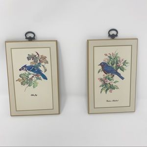 Vintage Bird Wall Art Cottagecore Farmhouse Decor